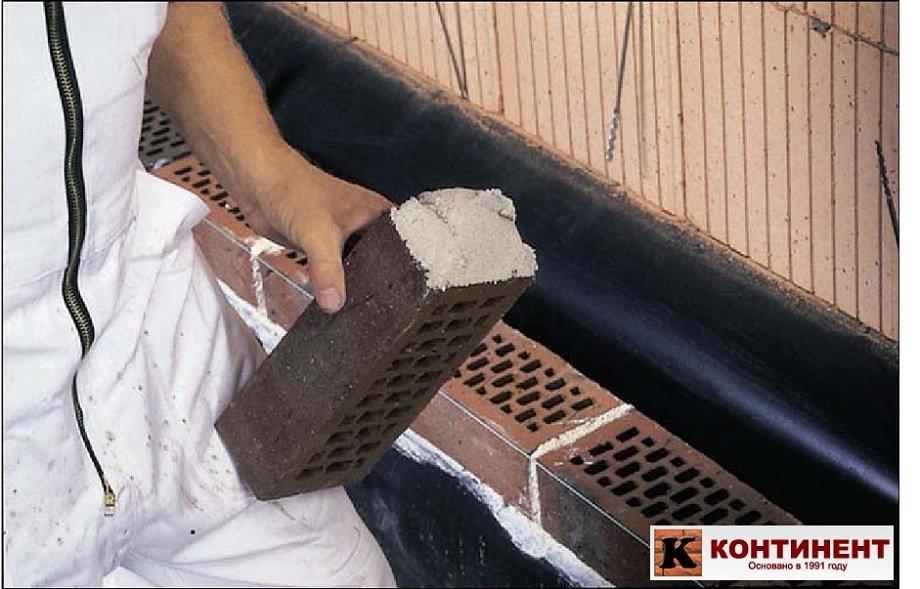 гидроизоляция облицовочного кирпича