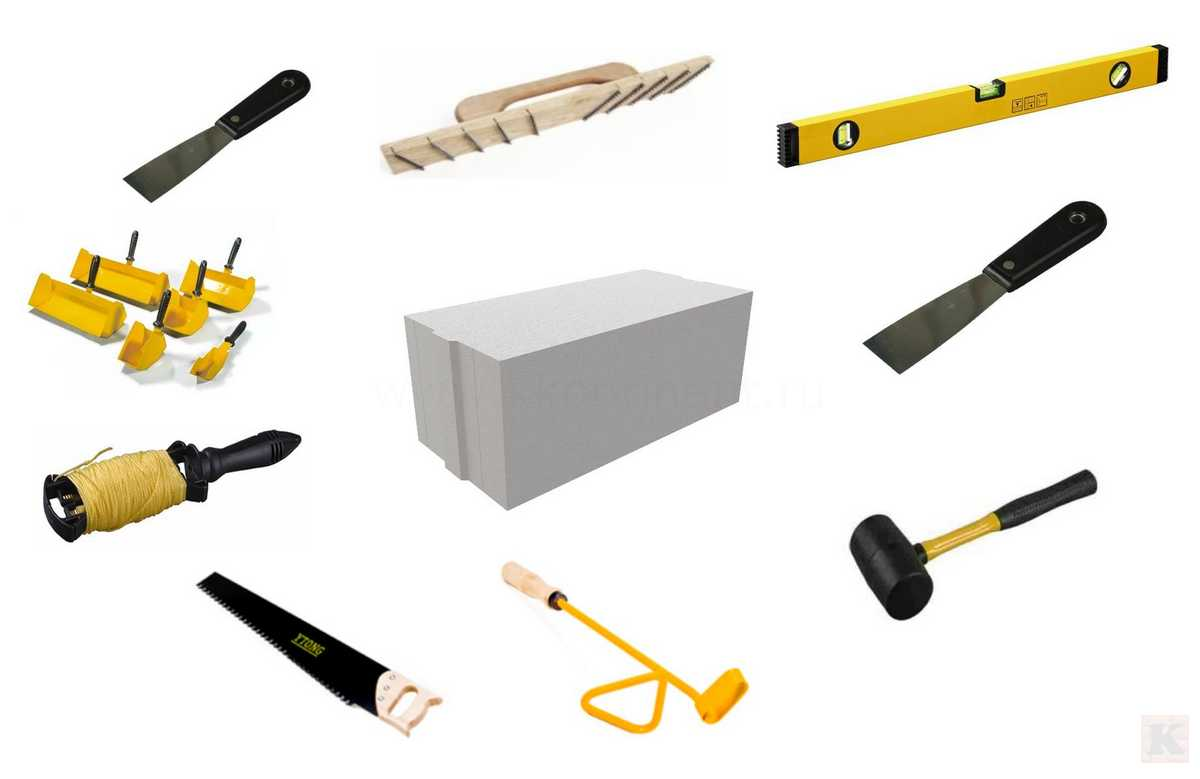 инструмент для укладки пеноблоков